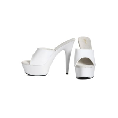 Chaussures - Mules blanches plateforme