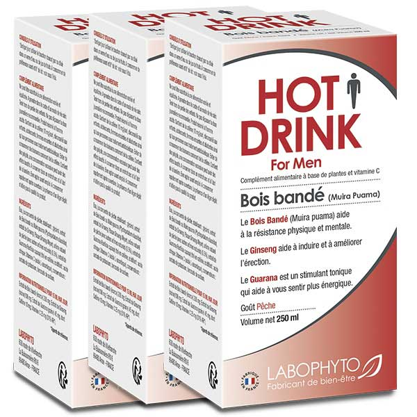 Stimulants - Pack 3 X HOT DRINK HOMME  Bois bandé