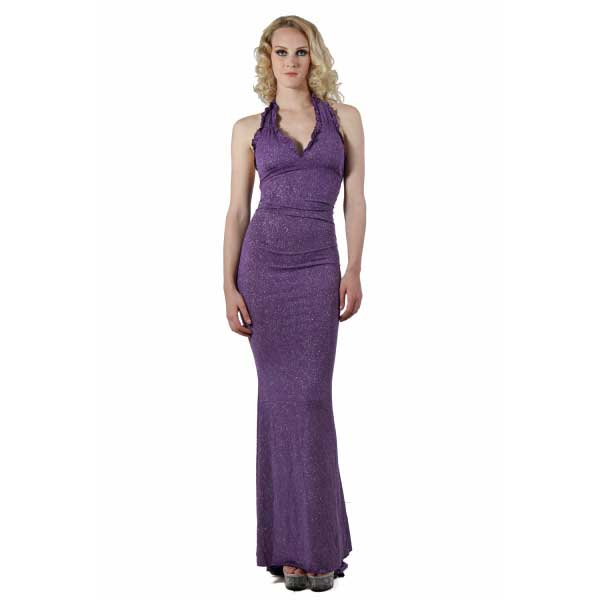 Vetements - Robe longue strass violet