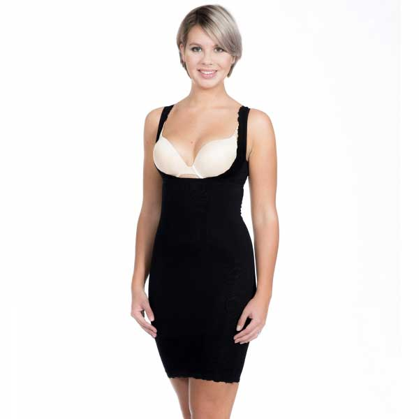 Lingerie sexy - Super Control Dress Noire travestis
