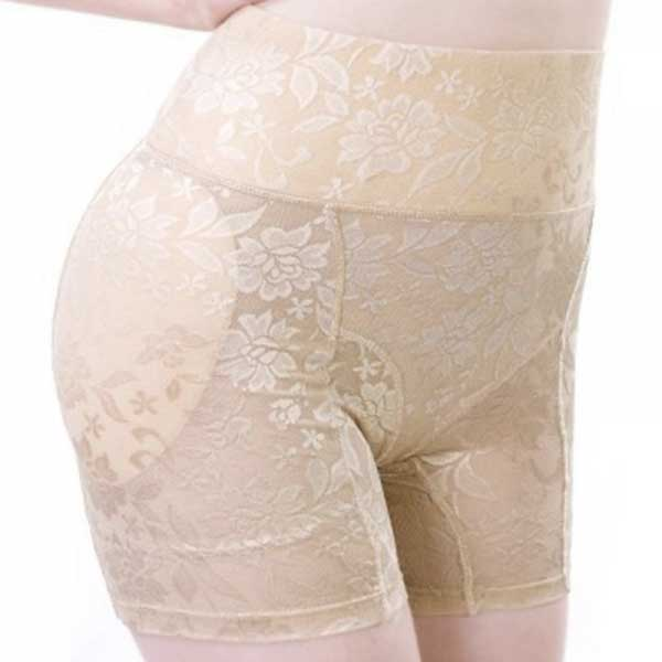 Silhouette travesti - Culotte fleurie fausses hanches / fausses fesses