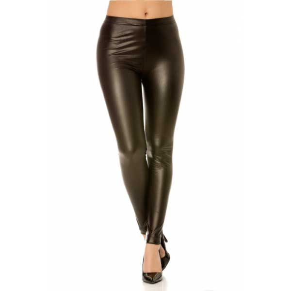 Vetements - Leggings noir imitation cuir